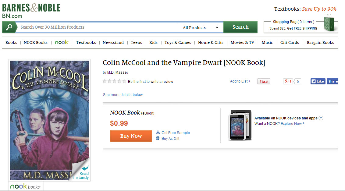 Colin McCool and the Vampire Dwarf on Barnes and Noble