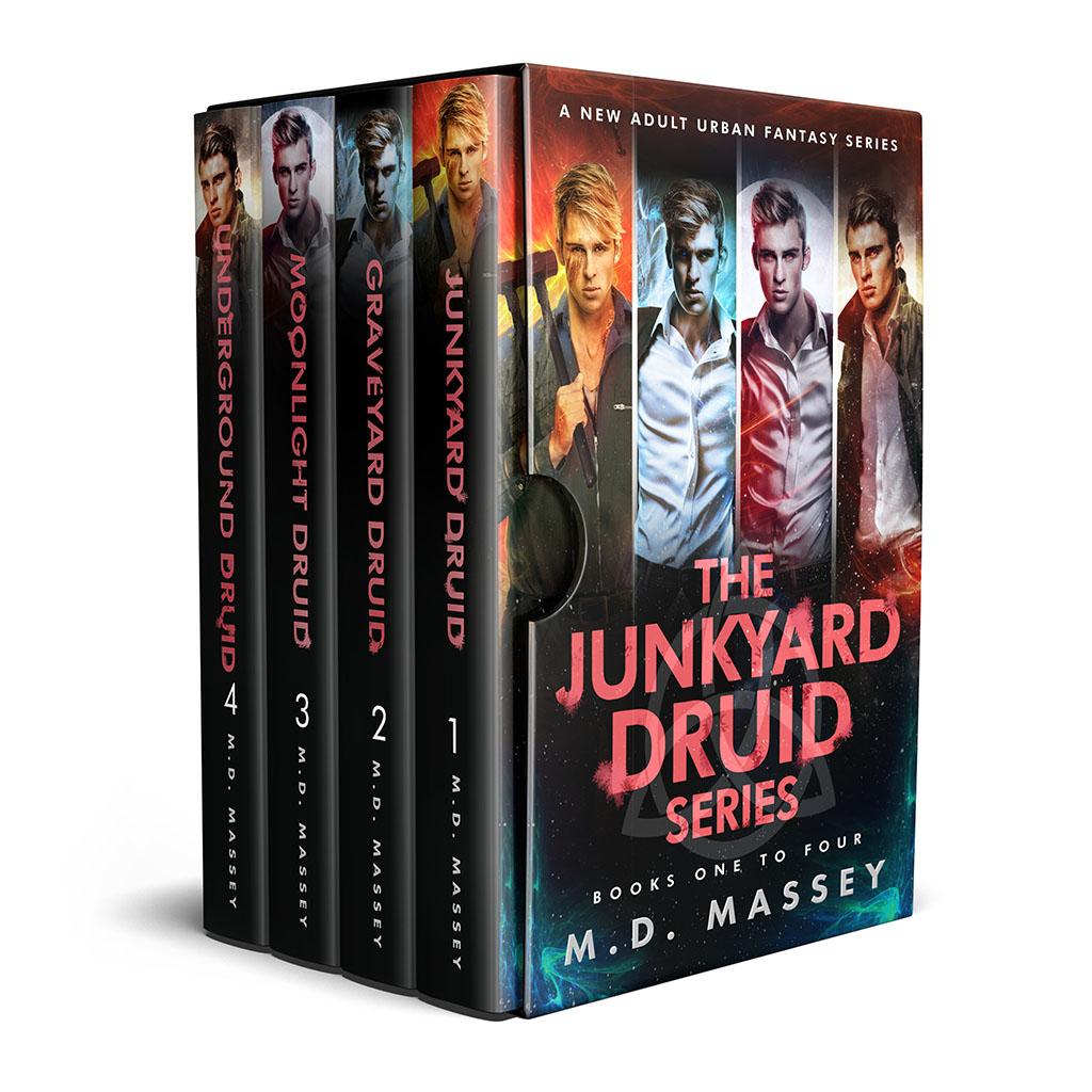 Junkyard Druid urban fantasy boxset cover books 1-4
