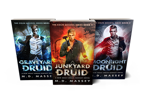 Junkyard Druid Colin McCool new adult urban fantasy series