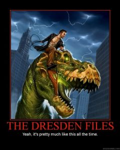 Dresden on a T-Rex