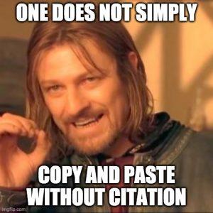 Boromir plagiarism meme