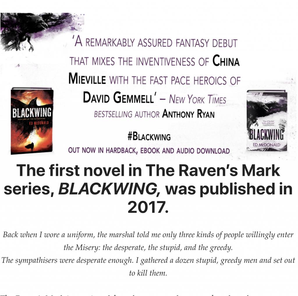 Raven's Mark series quote