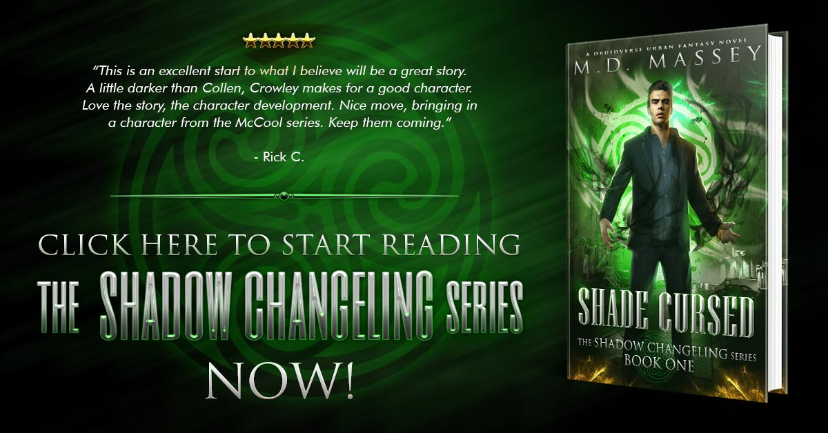 Shade Cursed urban fantasy novel banner image
