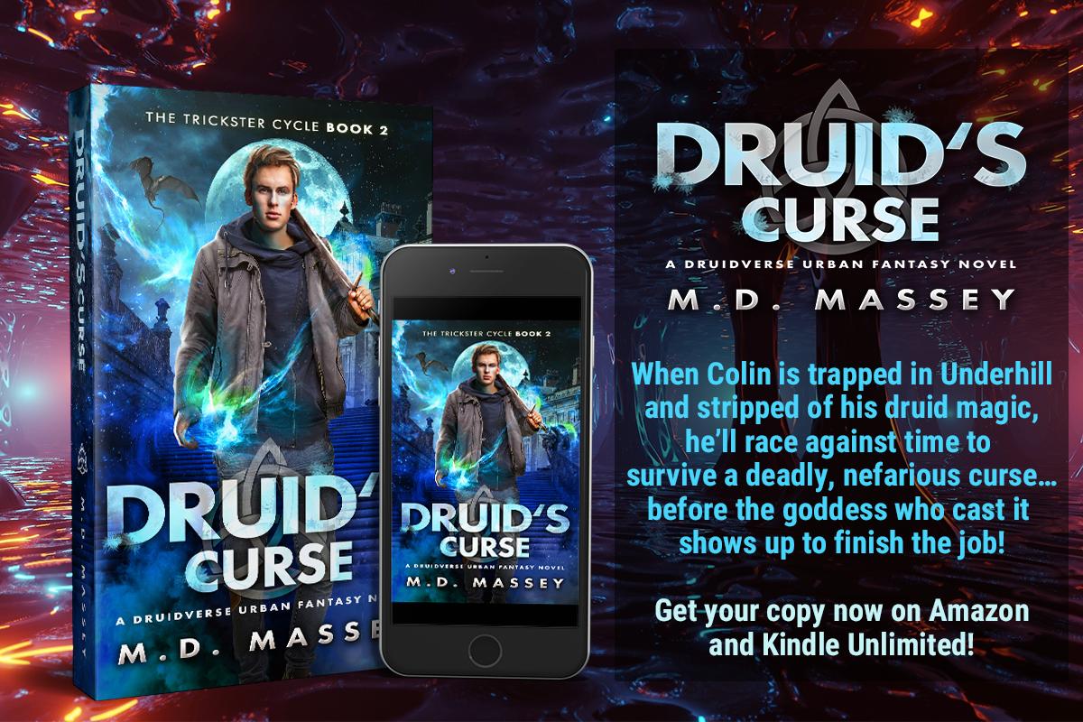 Druids Curse urban fantasy novel promo banner